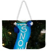 A Long Snow Ornament- Vertical Weekender Tote Bag