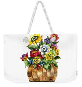 A Lovely Basket Of Flowers Weekender Tote Bag