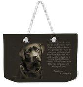 A Loving Dog Weekender Tote Bag