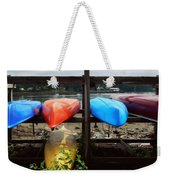 A Maine Parking Lot Weekender Tote Bag