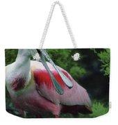 A Male Roseate Spoonbill Is In Breeding Weekender Tote Bag