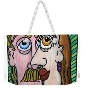 A Man And A Woman With Brown Eyes... - Un Homme Et Une Femme Aux Yeux Bruns... Weekender Tote Bag