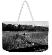 A Man And His Dog - Square Weekender Tote Bag