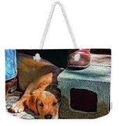 A Man And His Dog Weekender Tote Bag