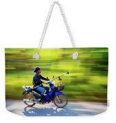 Heading To Work In Rural Thailand. Weekender Tote Bag