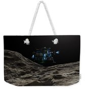 A Manned Asteroid Lander Approaches Weekender Tote Bag