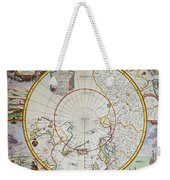A Map Of The North Pole Weekender Tote Bag by John Seller