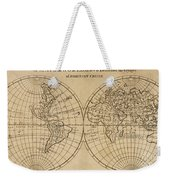 A Map Of The World With The Voyage Of Robinson Crusoe Weekender Tote Bag