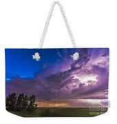 A Massive Thunderstorm Lit Internally Weekender Tote Bag