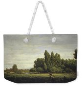 A Meadow Bordered By Trees Weekender Tote Bag