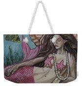 A Mermaid Named Pearl Weekender Tote Bag