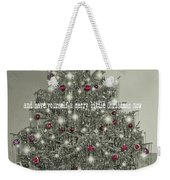 A Merry Little Christmas Quote Weekender Tote Bag