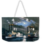 A Midnight Race On The Mississippi Weekender Tote Bag