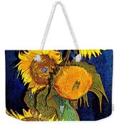 A Modern Look At Vincent's Vase With 5 Sunflowers Weekender Tote Bag
