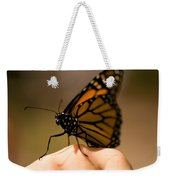 A Monarch Butterfly At The Butterfly Weekender Tote Bag