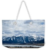 A Montana Village Scape Weekender Tote Bag