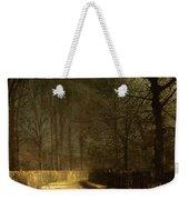 A Moonlit Lane Weekender Tote Bag