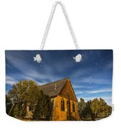A Moonlit Nightscape Of The Historic Weekender Tote Bag