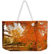 A Morning In Autumn - Lake Carasaljo Weekender Tote Bag