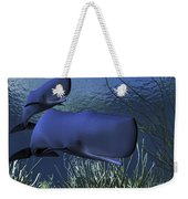 A Mother Sperm Whale Escorts Her Calf Weekender Tote Bag by Corey Ford