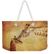 A Mother's Kiss Painted 2 Weekender Tote Bag
