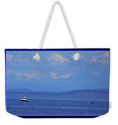 A Mountain, A Boat, A Whale Weekender Tote Bag