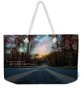 A Mysterious Country Road Weekender Tote Bag