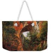 A Natural Bridge In Virginia Weekender Tote Bag by David Johnson