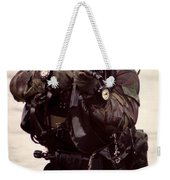 A Navy Seal Exits The Water Armed Weekender Tote Bag