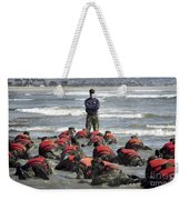 A Navy Seal Instructor Assists Students Weekender Tote Bag