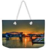 A New Day Chattanooga Sunrise Market Street Bridge Weekender Tote Bag