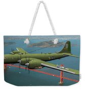 A New Kind Of Bird Over California - Oil Weekender Tote Bag
