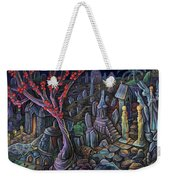 A Night In A Bunny Cemetery Weekender Tote Bag