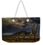 A Night In The Superstitions  Weekender Tote Bag