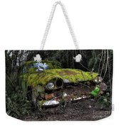 A Non Rolling Car Gathers Some Moss Weekender Tote Bag
