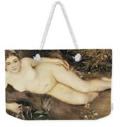 A Nymph By A Stream Weekender Tote Bag