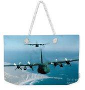 A Pair Of C-130 Hercules In Flight Weekender Tote Bag