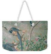 A Pair Of Magpie Jays  Vintage Wallpaper Weekender Tote Bag