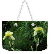 A Pair Of Yellow Bearded Iris 2 Weekender Tote Bag