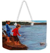 A Paper Boat Floated To An Open Sea  A World Separating You And Me Weekender Tote Bag