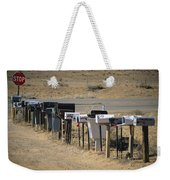 A Parade Of Mailboxes On The Outskirts Weekender Tote Bag