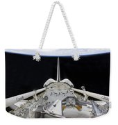 A Partial View Of Space Shuttle Weekender Tote Bag by Stocktrek Images