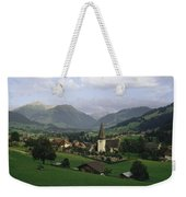 A Pastoral View Of A Village Weekender Tote Bag