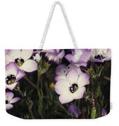 A Patch Of Wildflowers With White Weekender Tote Bag