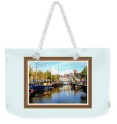 A Peaceful Canal Scene - The Netherlands L A S With Decorative Ornate Printed Frame. Weekender Tote Bag
