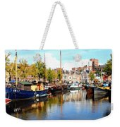A Peaceful Canal Scene - The Netherlands L B Weekender Tote Bag