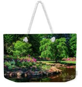 A Peaceful Feeling At The Azalea Pond Weekender Tote Bag