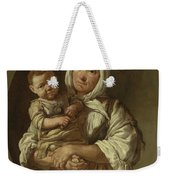 A Peasant Mother With Her Child In Her Arms Weekender Tote Bag