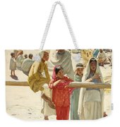 A Peep At The Train, India, 1892 Weekender Tote Bag