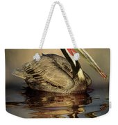 A Pelican And His Reflection Weekender Tote Bag